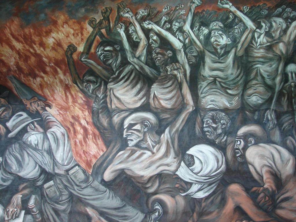 El pueblo y sus falsos l deres fresco de clemente orozco for El mural guadalajara