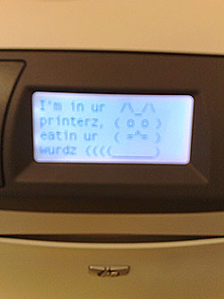 hacked printer | by jez`