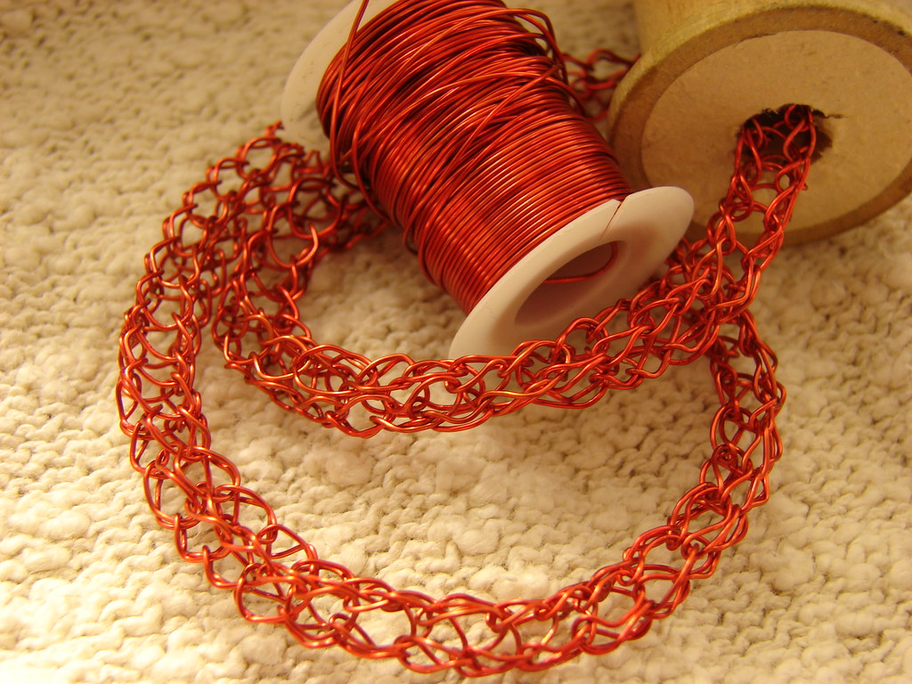 Spool Knitting With Wire : Spool knitting with copper wire cavalaxis flickr