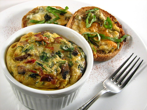 Spinach, Mushroom and Sun-dried Tomato Frittata | Recipe ...