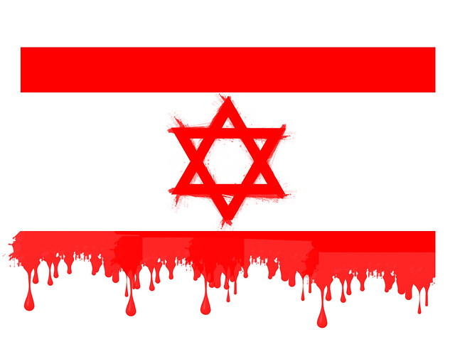 ISRAEL BLOODY FLAG | How must be the real jewish flag ...