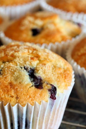 Blueberry and lemon muffins 1993 R | by nicisme