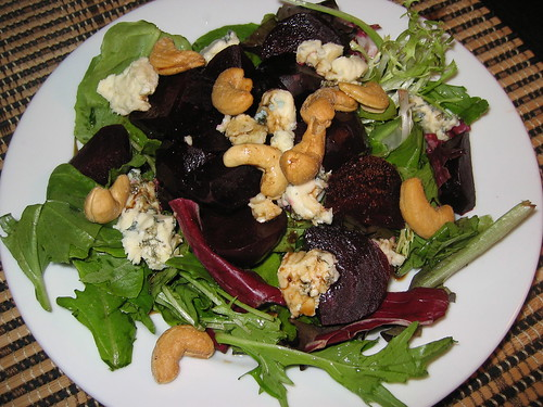 Roasted Beet Salad with Blue Cheese and Cashews | by Kevin - Closet Cooking