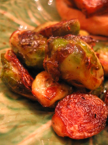 seared and steamed brussel sprouts | by tofu666