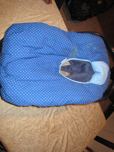 infant car seat cover graco infant car seat has winter p flickr. Black Bedroom Furniture Sets. Home Design Ideas