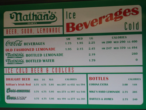 Nathan's Famous Menu with Calories | by Kai Brinker