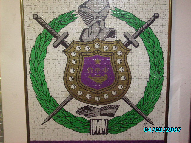 Omega Psi Phi Shield Puzzle This Is An Omega Puzzle That Flickr