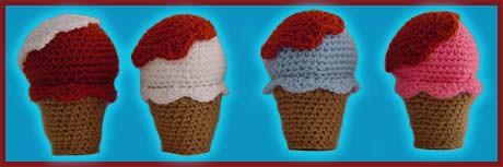 Ice Cream Sandwich - Free Amigurumi Pattern - Crochet Quickies