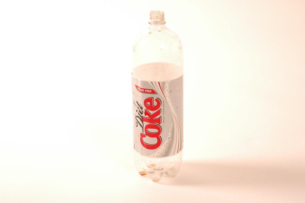 Coke Bottle Empty Empty Diet Coca Cola Bottle