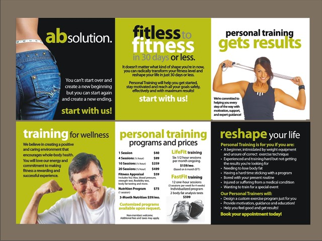Personal training brochure marketmyclub flickr for Personal brochure templates