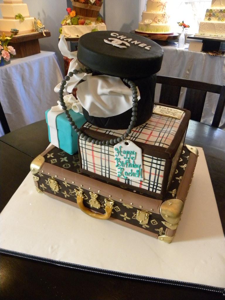 Rachels Luggage Birthday Cakes Tiffanys Baking Co Flickr