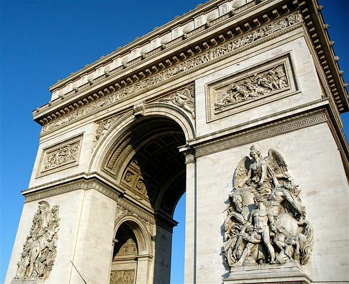 arc de triomphe a view from the car taken from teti flickr. Black Bedroom Furniture Sets. Home Design Ideas