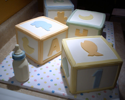 Baby Shower Cakes Baby Blocks