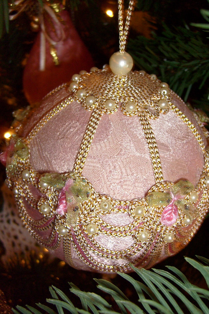 Pink Victorian Christmas Ornament Lovely Pink Victorian