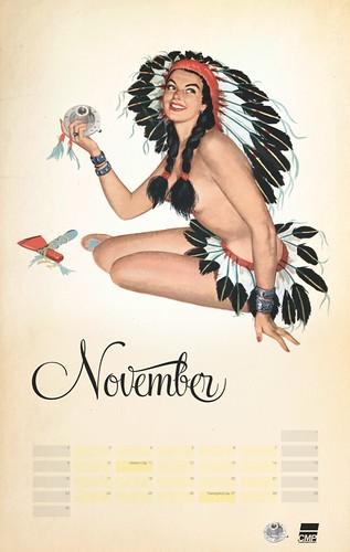 CMP Pinup Calendar: NOVEMBER Girl | I took pre-existing pinu ...