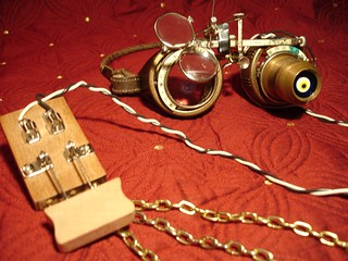 Naughty or Nice Steampunk Goggles | by Kendesh