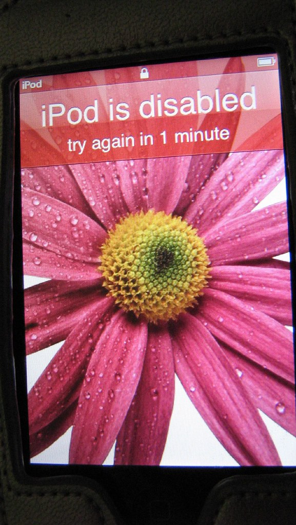 my ipod touch is disabled