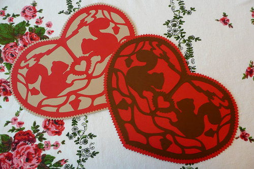 Papercut Valentines with Free Pattern! | by Little Acorn