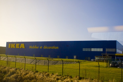 ikea from the train in france katie gardner flickr. Black Bedroom Furniture Sets. Home Design Ideas