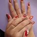 Mom's festive nails