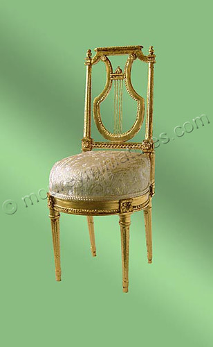 chaise lyre brocard lyre chair brocade miniaturiste34 flickr. Black Bedroom Furniture Sets. Home Design Ideas