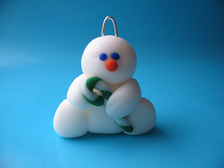 Sparkling Snowman ornament | by fliepsiebieps_