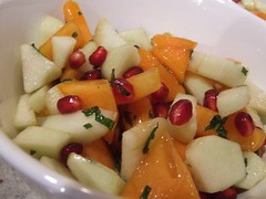 Persimmon Pomegranate Fruit Salad | by mellowfood