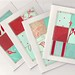 Red & Aqua card set