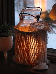 old jar put to new use :) | by decor8
