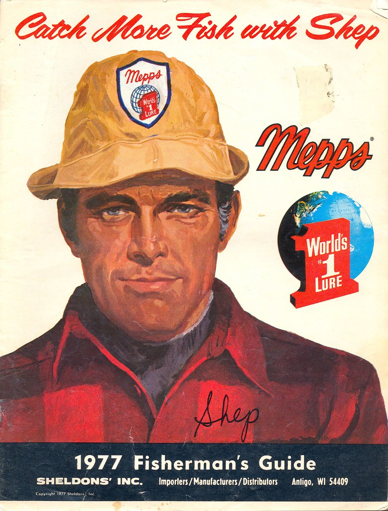 Fishing collectible 1977 mepps catalog and how to fisherma for Free fishing catalogs
