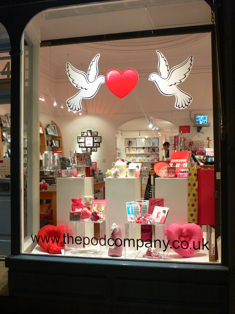 Valentine Shop Window At Pod This Photo Links To My Blog