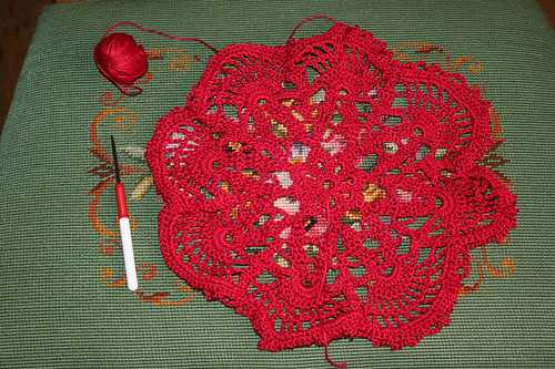 Red doily resized | by *mia*