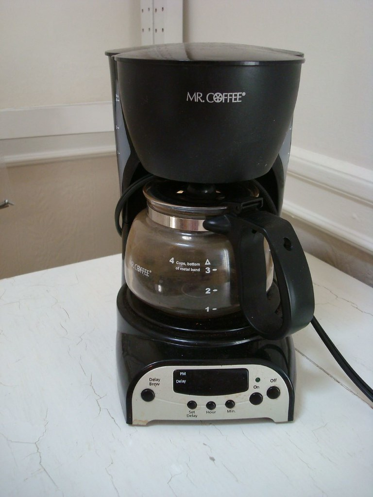 Mr. Coffee 4 Cup Coffee Maker - USD 10 Has brew delay option.? Flickr