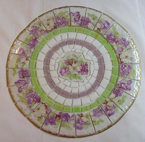 Shabby Chic Violet China Mosaic Tile Set