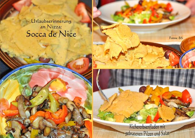 Kulinarische Urlaubserinnerung ... Côte-d'Azur ... Socca de Nice ... Fingerfood, Traditionssnack, Kichererbsenfladen ... Rezept ... Fotos: Brigitte Stolle, Mannheim
