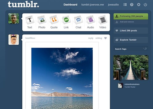 Image: Tumblr Quietly Updates Dashboard | by joe.ross