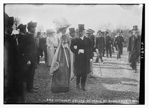 Amb. Leishman and Queen of Italy at Rome Exhibition  (LOC) | by The Library of Congress