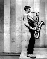 Gerry Mulligan, Los Angeles recording session, 1953 | by Bob Willoughby