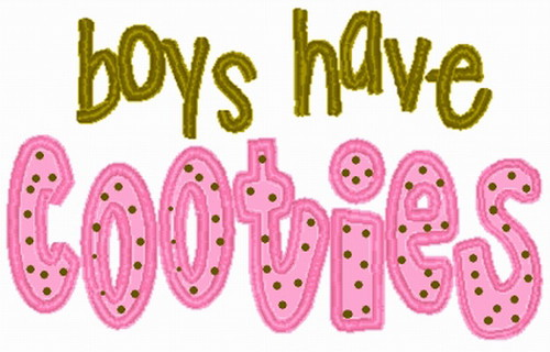 Boys Have Cooties Applique Embroidery Design Machine