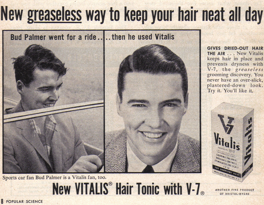 Vintage Ad 501 Keep Your Hair Neat With Vitalis Source