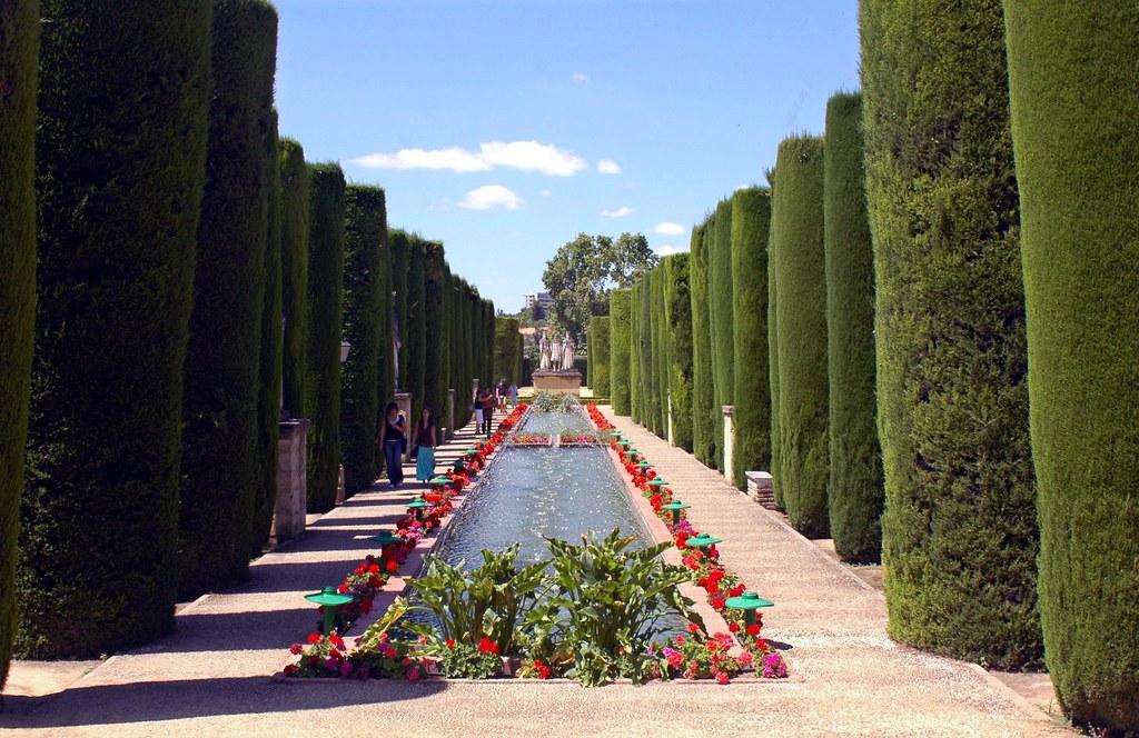 Formal gardens la alcazaba de cordoba spain espana feat - Jardines cordoba ...