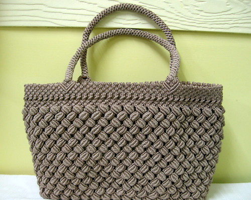 Vintage Chocolate Macrame Handbag I Couldn T Describe It