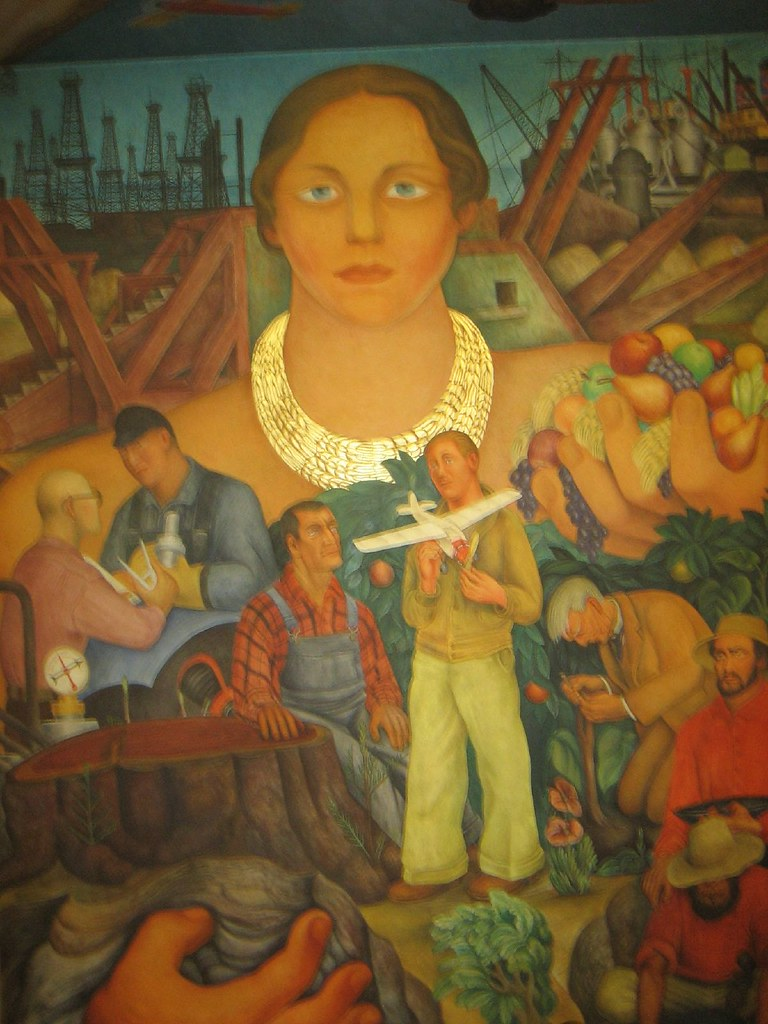 Diego rivera mural his first mural done in the united st for Diego rivera first mural