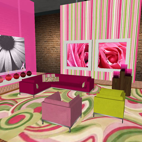 Pink and lime green livingroom | Jasmine Digital | Flickr