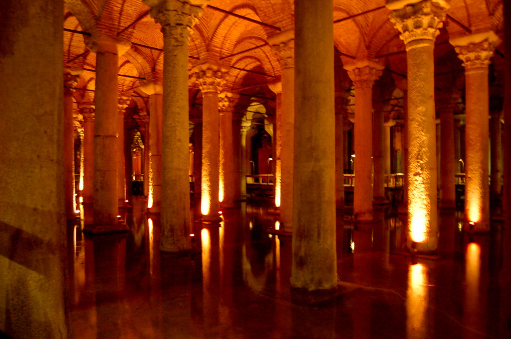 Columns  In the Ancient Basilica Cistern, nicknamed