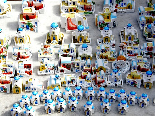 Souvenirs Small Cycladic Houses As Souvenirs At A