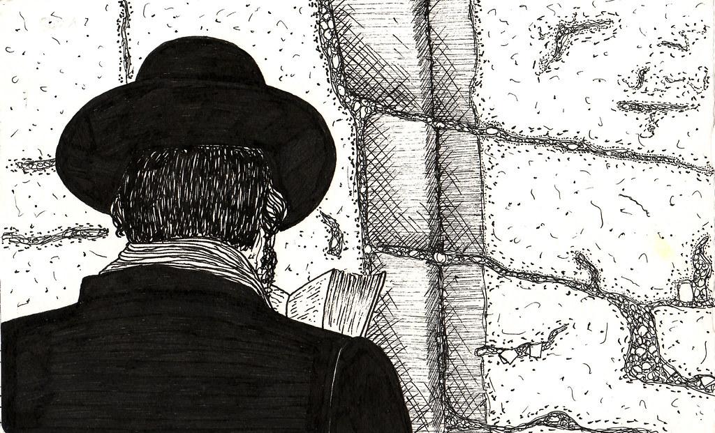 Line Drawing Jerusalem : Kottel wailing wall jerusalem pages from my journal fru flickr