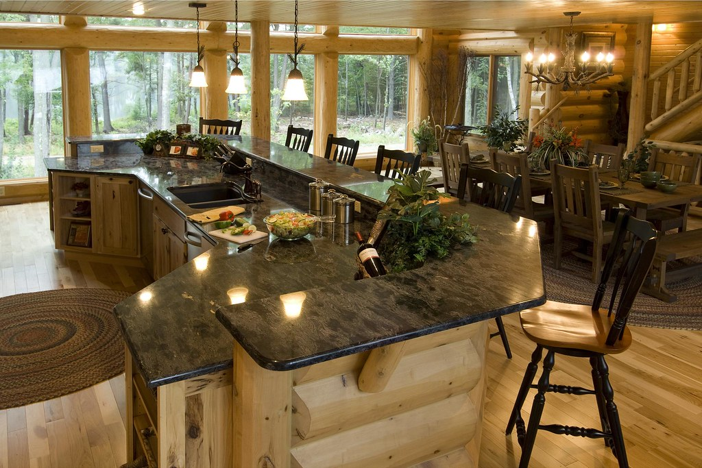 Log Kitchen Countertops