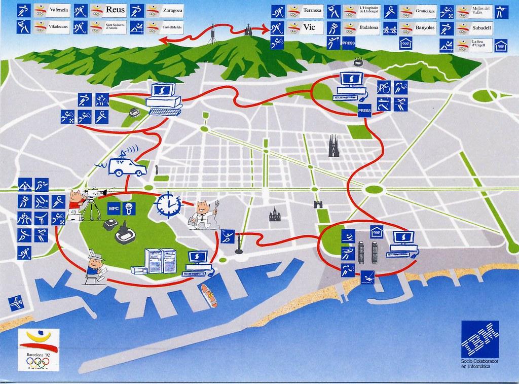 Cobertura Informatica Juegos Olimpicos Barcelona 1992 Ibm Flickr