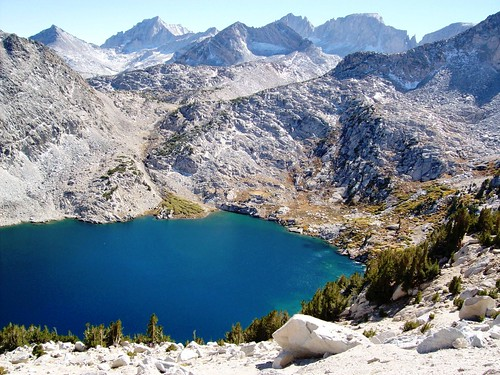Ruby Lake At 11 000 Feet Surrounded By The Crest Of The